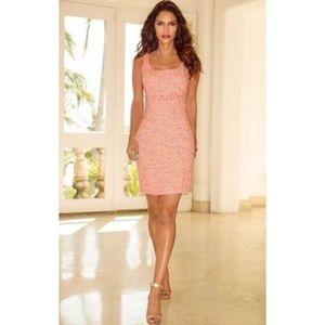 Boston Proper Pink Tweed Sheath Dress Size 12